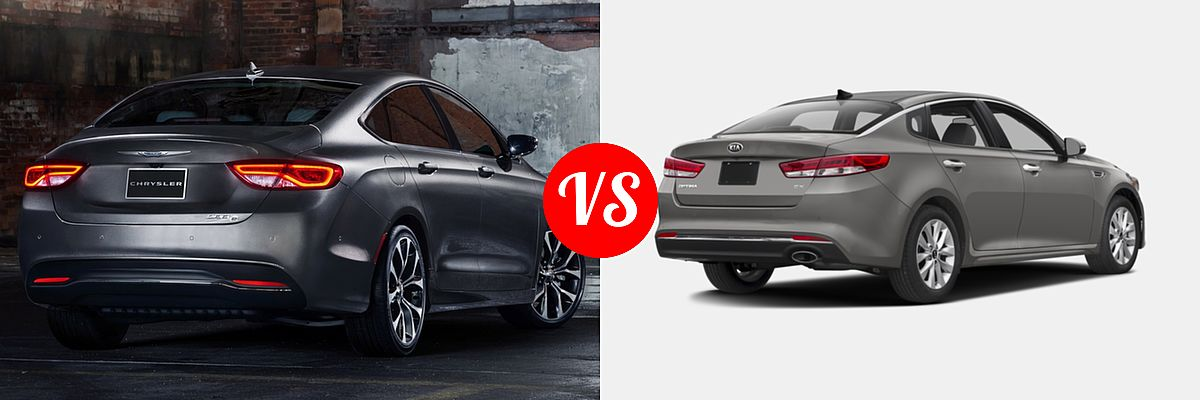 2015 Chrysler 200 vs. 2016 Kia Optima | Vehie.com