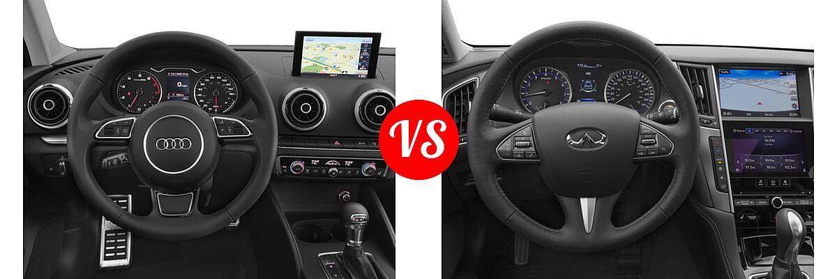 2016 audi a3 sedan diesel vs 2016 infiniti q50 vehie. Black Bedroom Furniture Sets. Home Design Ideas
