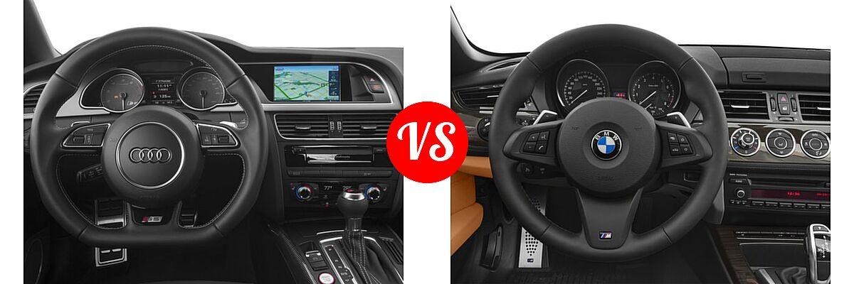 2016 Audi S5 Convertible Premium Plus / Prestige vs. 2016 BMW Z4 Convertible sDrive28i / sDrive35i / sDrive35is - Dashboard Comparison