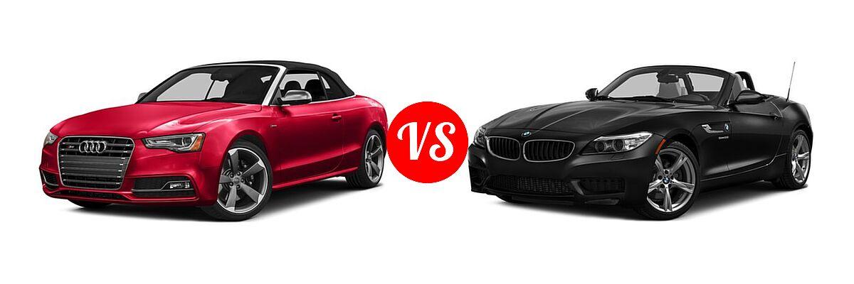 2016 Audi S5 Convertible Premium Plus / Prestige vs. 2016 BMW Z4 Convertible sDrive28i / sDrive35i / sDrive35is - Front Left Comparison