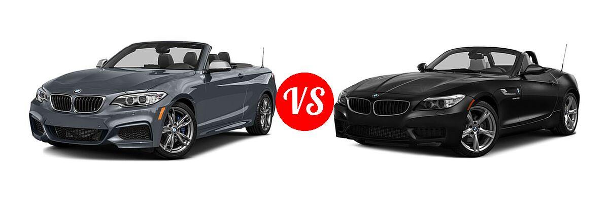 2016 BMW 2 Series M235i xDrive Convertible M235i xDrive vs. 2016 BMW Z4 Convertible sDrive28i / sDrive35i / sDrive35is - Front Left Comparison