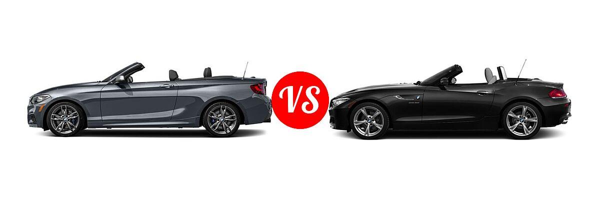 2016 BMW 2 Series M235i xDrive Convertible M235i xDrive vs. 2016 BMW Z4 Convertible sDrive28i / sDrive35i / sDrive35is - Side Comparison