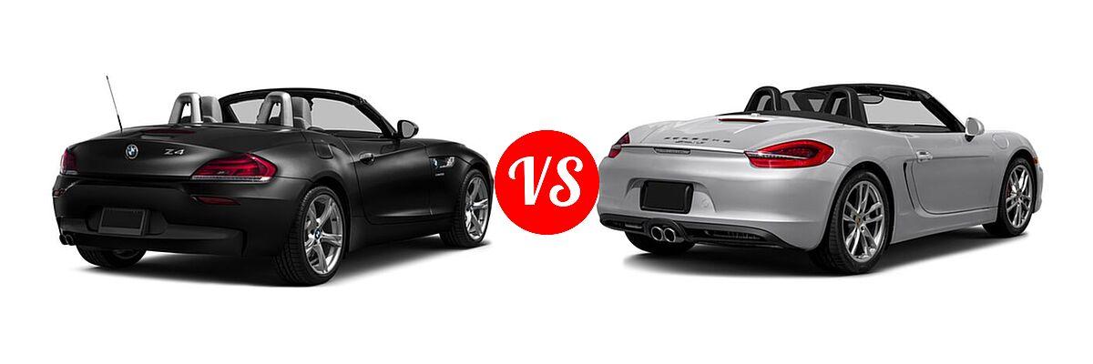 2016 BMW Z4 Convertible sDrive28i / sDrive35i / sDrive35is vs. 2016 Porsche Boxster Convertible GTS / S - Rear Right Comparison