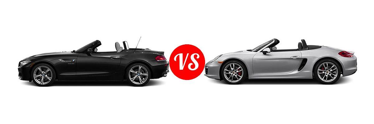 2016 BMW Z4 Convertible sDrive28i / sDrive35i / sDrive35is vs. 2016 Porsche Boxster Convertible GTS / S - Side Comparison