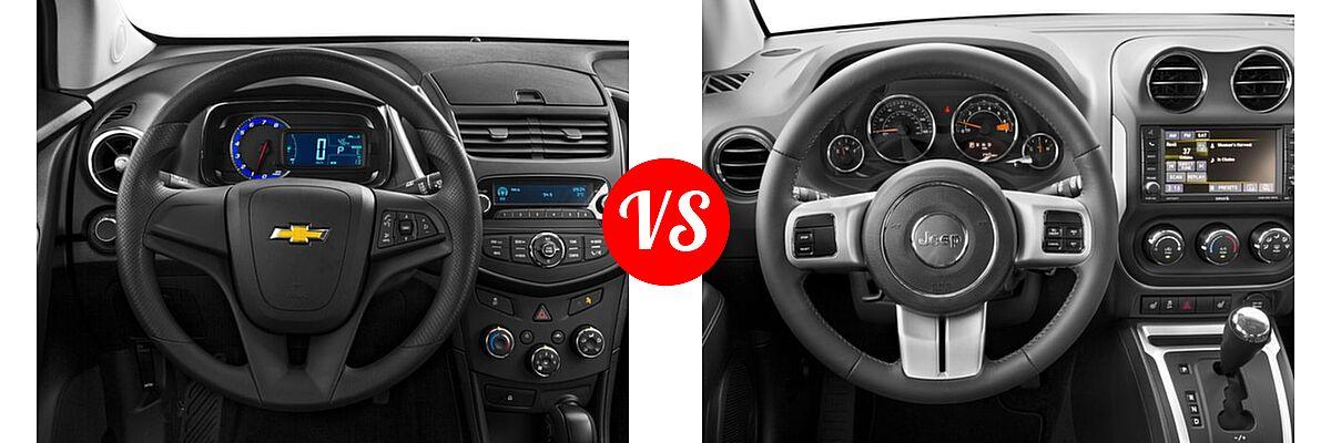 2016 Chevrolet Trax SUV LS vs. 2016 Jeep Compass SUV High Altitude Edition - Dashboard Comparison