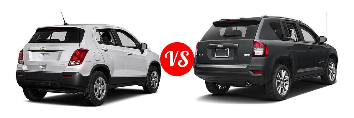 2016 Chevrolet Trax SUV LS vs. 2016 Jeep Compass SUV High Altitude Edition - Rear Right Comparison