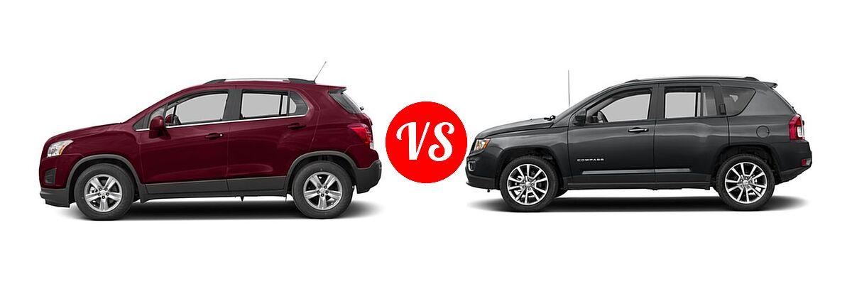 2016 Chevrolet Trax SUV LT vs. 2016 Jeep Compass SUV High Altitude Edition - Side Comparison