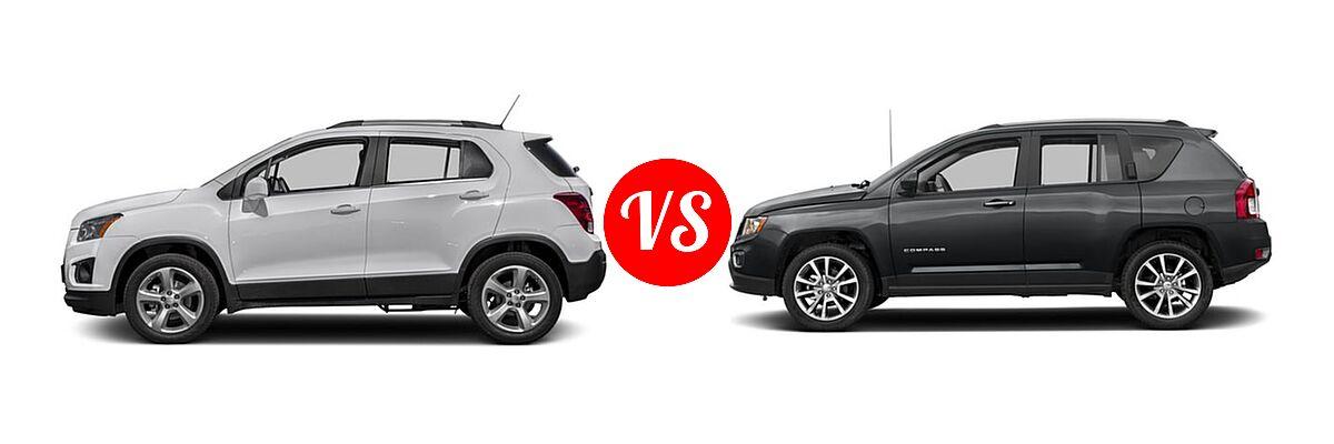 2016 Chevrolet Trax SUV LTZ vs. 2016 Jeep Compass SUV High Altitude Edition - Side Comparison