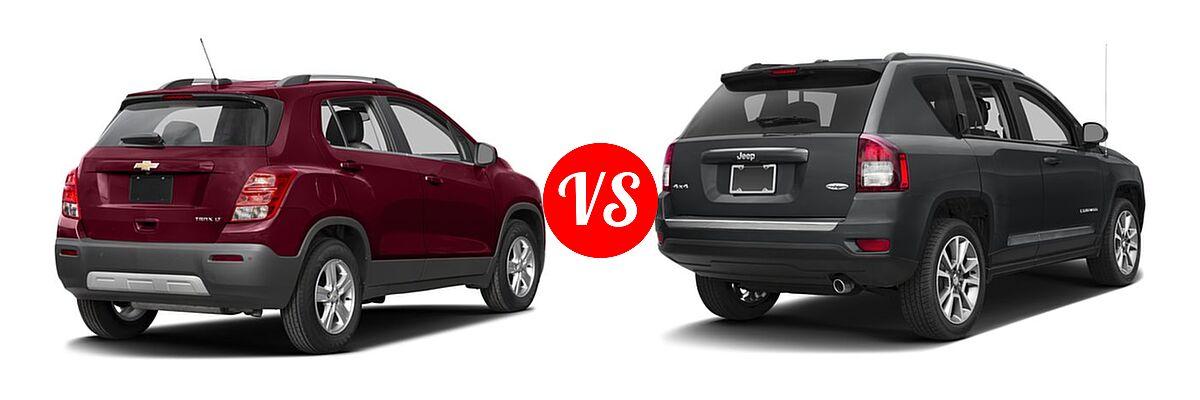 2016 Chevrolet Trax SUV LT vs. 2016 Jeep Compass SUV High Altitude Edition - Rear Right Comparison