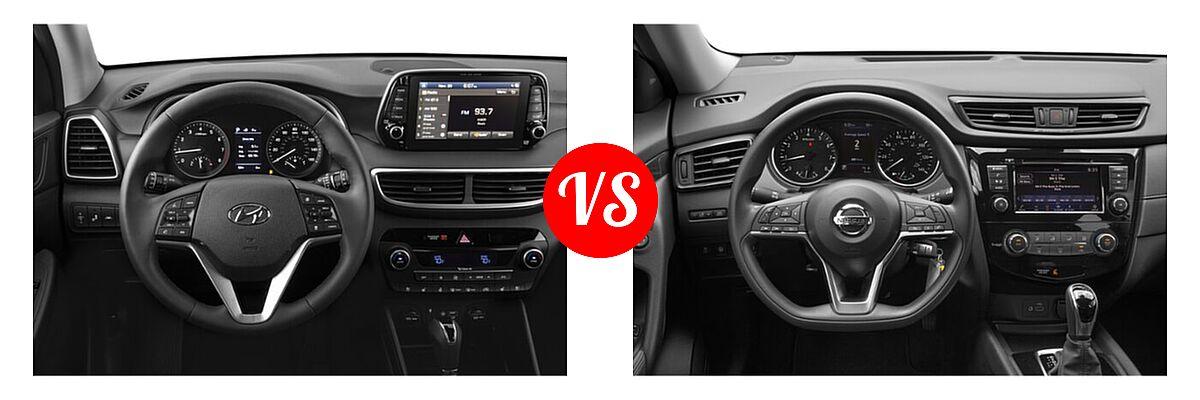 2020 Hyundai Tucson SUV Ultimate vs. 2020 Nissan Rogue SUV S / SV - Dashboard Comparison