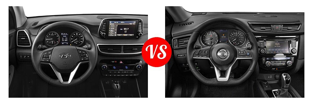2020 Hyundai Tucson SUV Ultimate vs. 2020 Nissan Rogue SUV SL - Dashboard Comparison
