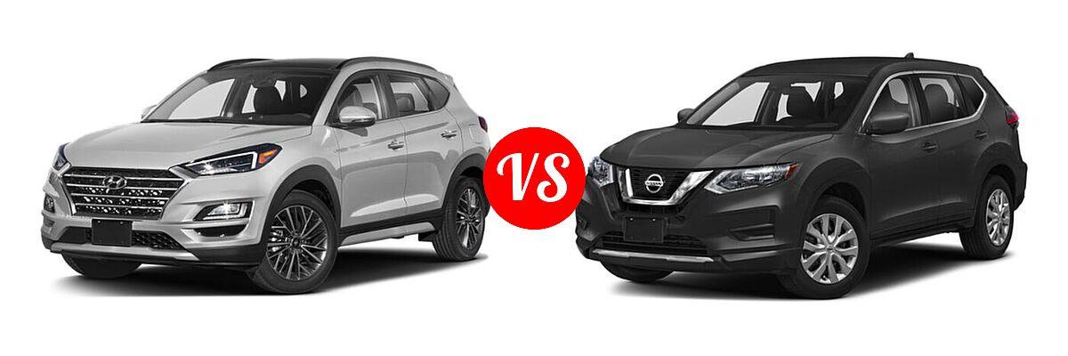 2020 Hyundai Tucson SUV Ultimate vs. 2020 Nissan Rogue SUV S / SV - Front Left Comparison