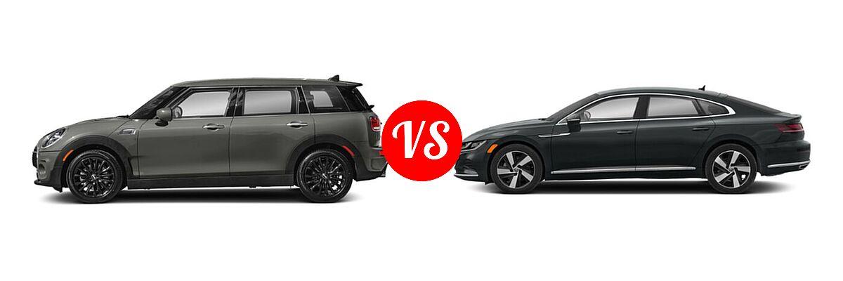 2021 MINI Clubman John Cooper Works Hatchback John Cooper Works vs. 2021 Volkswagen Arteon Hatchback SE - Side Comparison