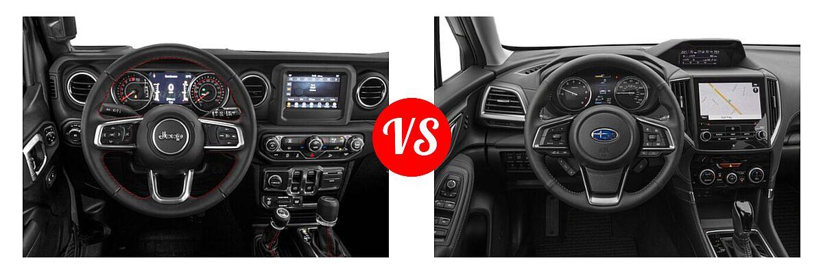 2021 Jeep Wrangler SUV Rubicon vs. 2021 Subaru Forester SUV Touring - Dashboard Comparison