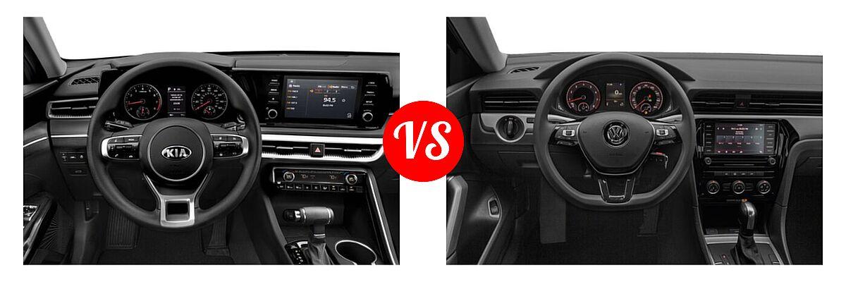 2021 Kia K5 Sedan GT / LX / LXS vs. 2021 Volkswagen Passat Sedan 2.0T R-Line - Dashboard Comparison