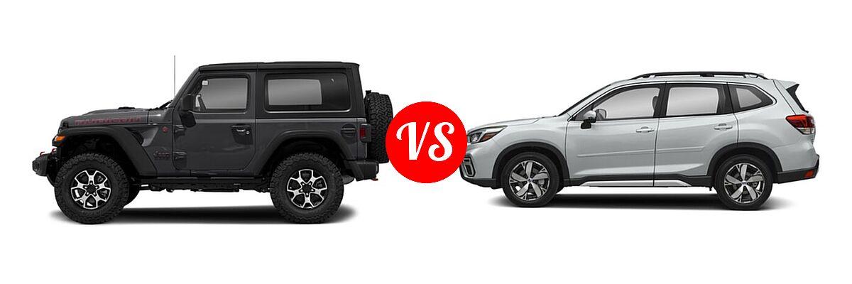 2021 Jeep Wrangler SUV Rubicon vs. 2021 Subaru Forester SUV Touring - Side Comparison