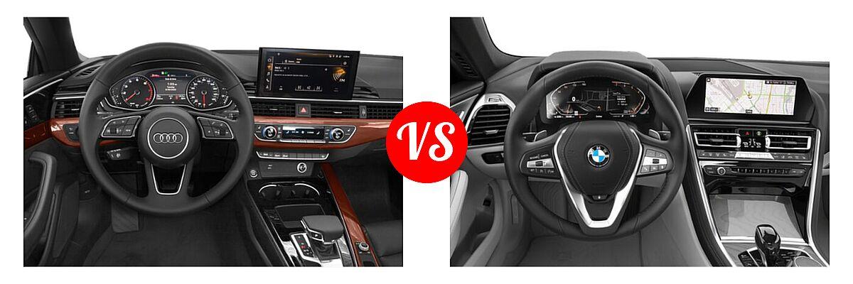 2021 Audi A5 Convertible Premium / Premium Plus vs. 2021 BMW 8 Series Convertible 840i - Dashboard Comparison