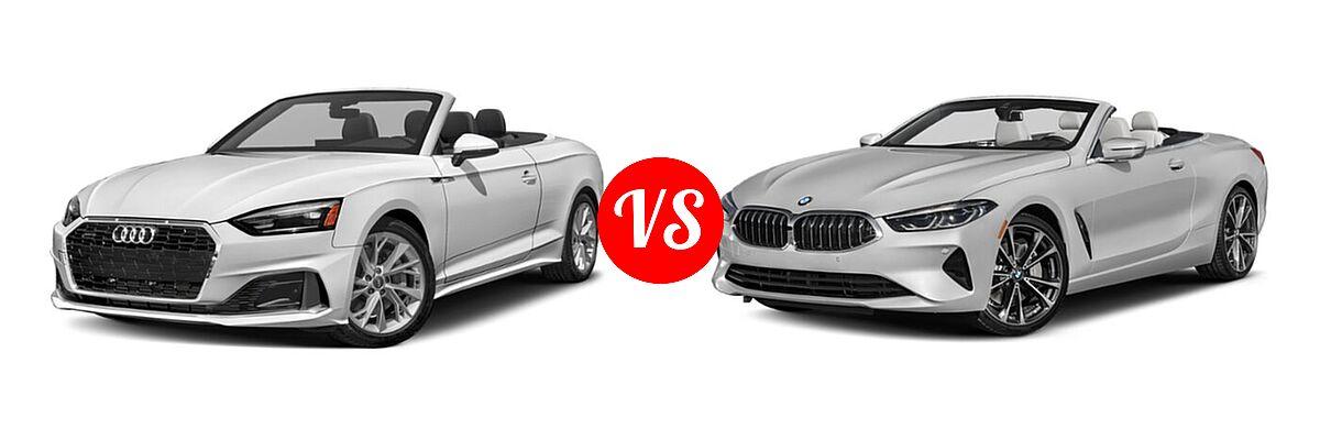 2021 Audi A5 Convertible Premium / Premium Plus vs. 2021 BMW 8 Series Convertible 840i - Front Left Comparison