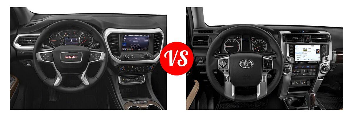 2021 GMC Acadia SUV AT4 / SL / SLE / SLT vs. 2021 Toyota 4Runner SUV Limited - Dashboard Comparison
