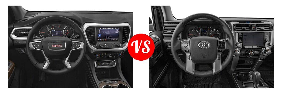 2021 GMC Acadia SUV AT4 / SL / SLE / SLT vs. 2021 Toyota 4Runner SUV SR5 / SR5 Premium - Dashboard Comparison