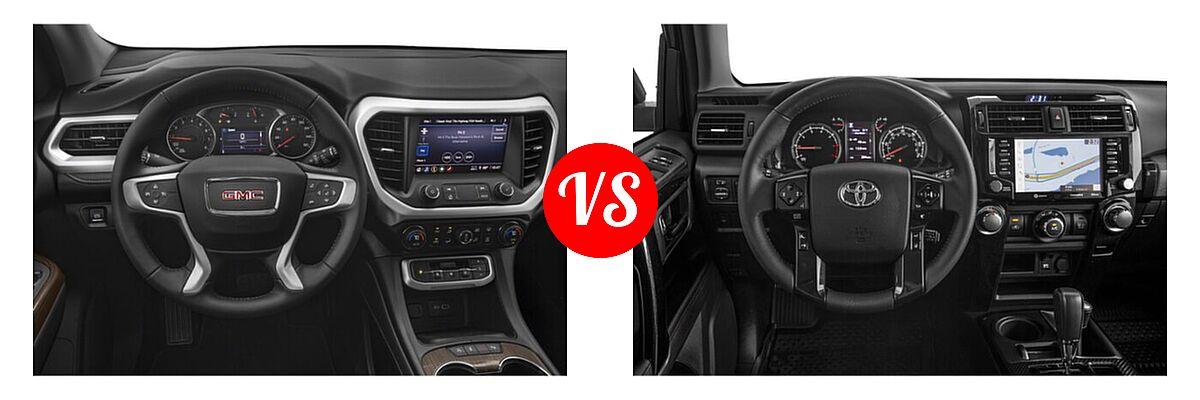 2021 GMC Acadia SUV AT4 / SL / SLE / SLT vs. 2021 Toyota 4Runner SUV Venture - Dashboard Comparison