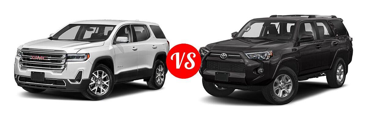 2021 GMC Acadia SUV AT4 / SL / SLE / SLT vs. 2021 Toyota 4Runner SUV SR5 / SR5 Premium - Front Left Comparison