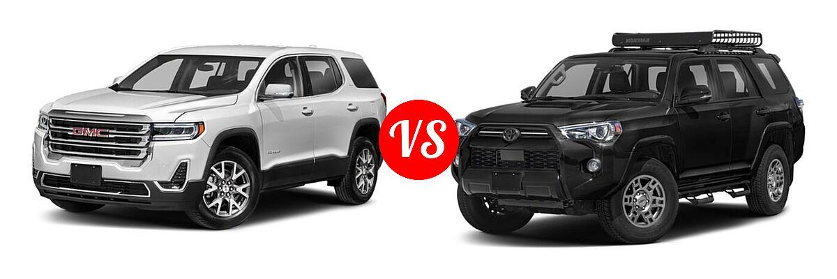2021 GMC Acadia SUV AT4 / SL / SLE / SLT vs. 2021 Toyota 4Runner SUV Venture - Front Left Comparison