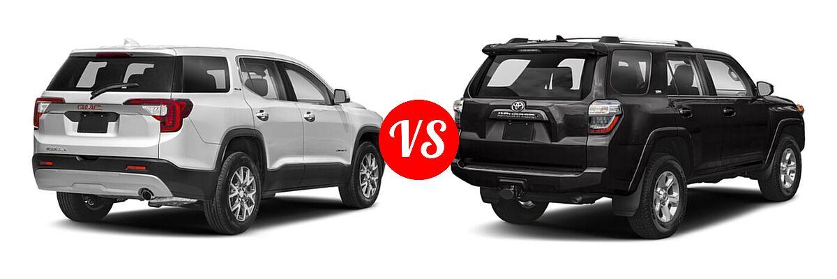 2021 GMC Acadia SUV AT4 / SL / SLE / SLT vs. 2021 Toyota 4Runner SUV SR5 / SR5 Premium - Rear Right Comparison