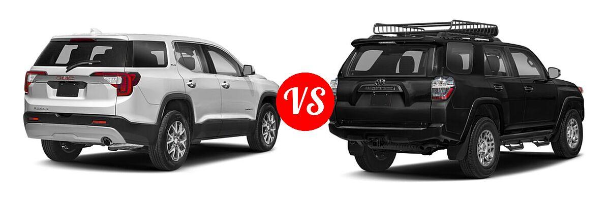2021 GMC Acadia SUV AT4 / SL / SLE / SLT vs. 2021 Toyota 4Runner SUV Venture - Rear Right Comparison