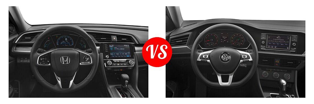 2021 Honda Civic Sedan EX-L vs. 2021 Volkswagen Jetta Sedan S / SE / SEL / SEL Premium - Dashboard Comparison