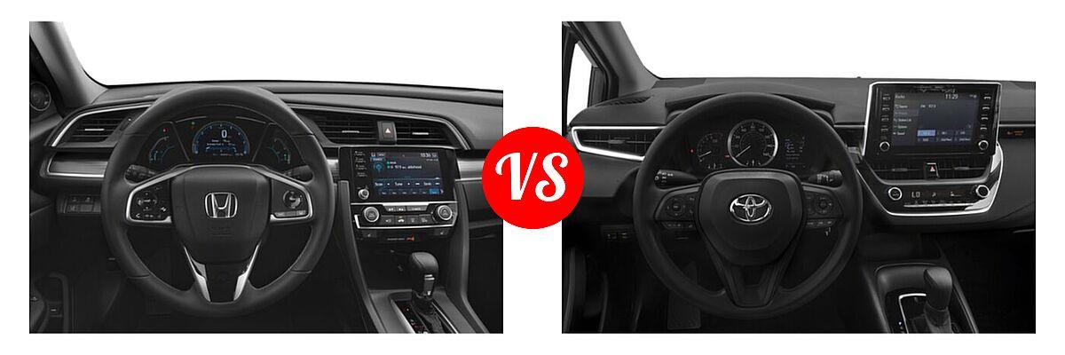 2021 Honda Civic Sedan EX-L vs. 2021 Toyota Corolla Sedan L / LE - Dashboard Comparison