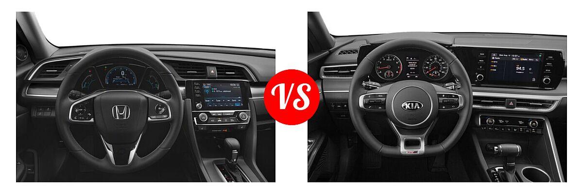 2021 Honda Civic Sedan EX-L vs. 2021 Kia K5 Sedan GT-Line - Dashboard Comparison