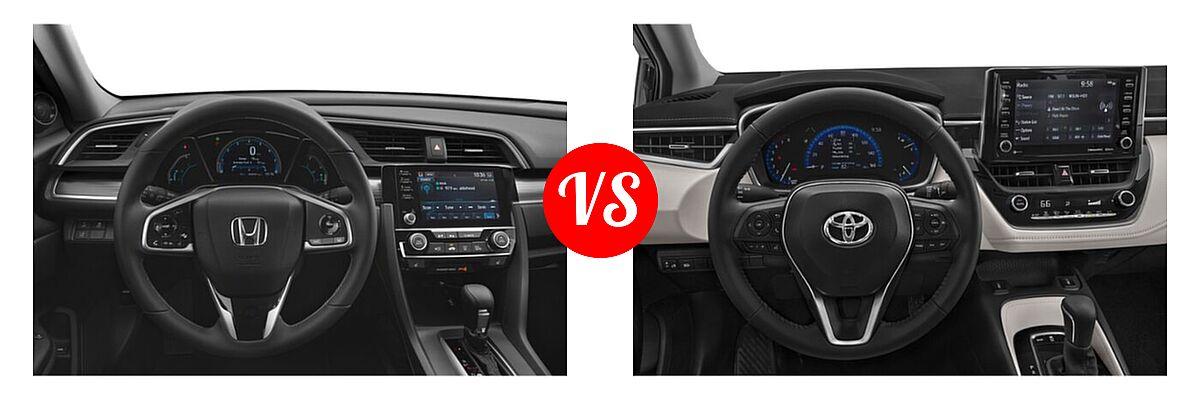 2021 Honda Civic Sedan EX-L vs. 2021 Toyota Corolla Sedan XLE - Dashboard Comparison