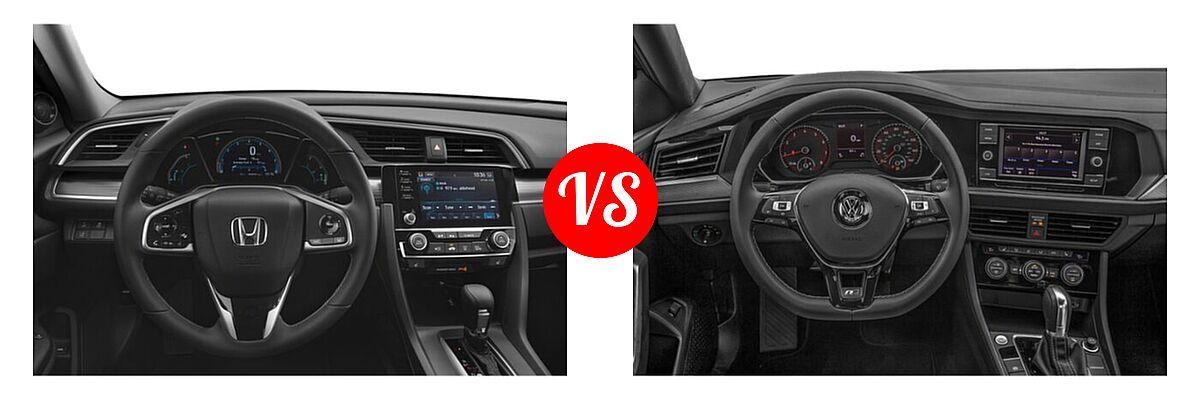 2021 Honda Civic Sedan EX-L vs. 2021 Volkswagen Jetta Sedan R-Line - Dashboard Comparison
