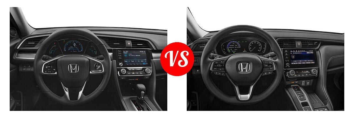 2021 Honda Civic Sedan EX-L vs. 2021 Honda Insight Sedan Hybrid EX - Dashboard Comparison