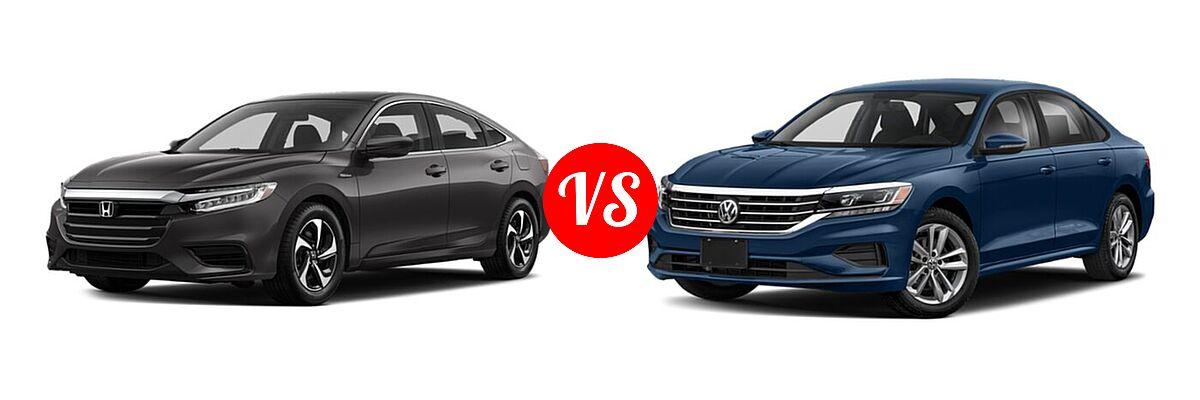 2021 Honda Insight Sedan Hybrid LX vs. 2021 Volkswagen Passat Sedan 2.0T R-Line - Front Left Comparison