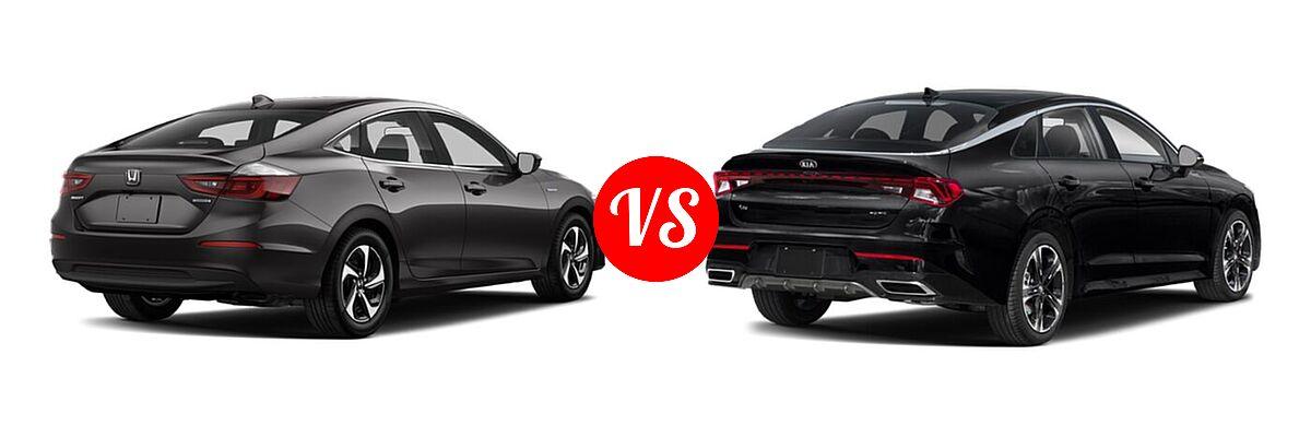 2021 Honda Insight Sedan Hybrid LX vs. 2021 Kia K5 Sedan GT-Line - Rear Right Comparison