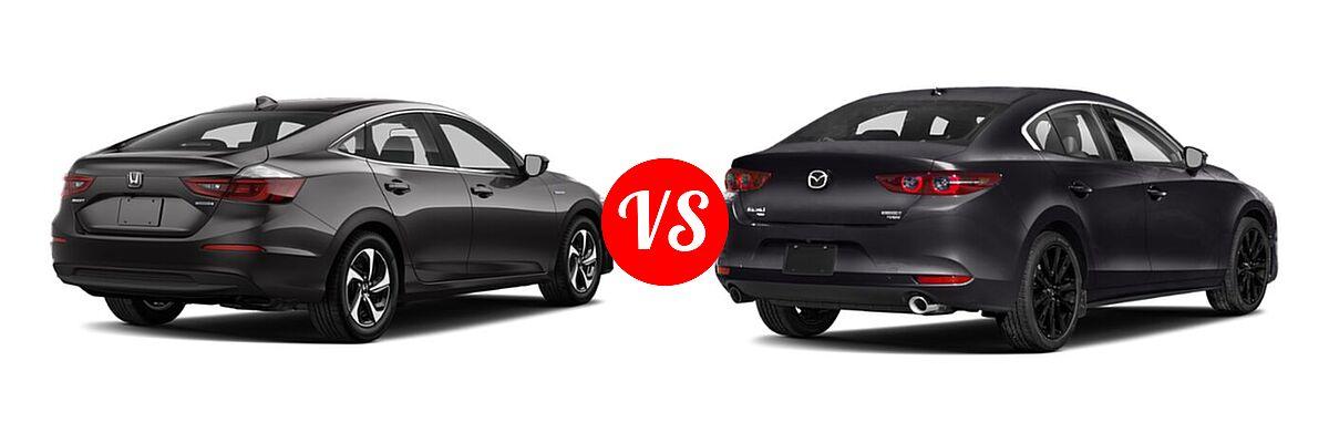 2021 Honda Insight Sedan Hybrid LX vs. 2021 Mazda 2 Sedan 2.5 Turbo - Rear Right Comparison