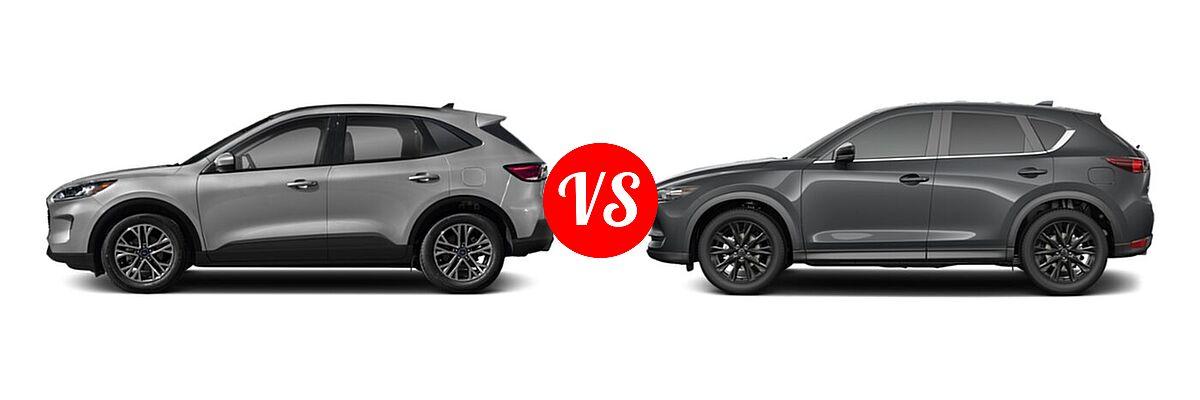 2021 Ford Escape Hybrid vs. 2021 Mazda CX-5   Vehie.com