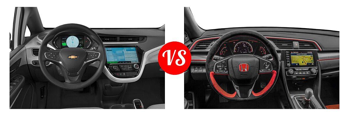 2021 Chevrolet Bolt EV Hatchback Electric LT vs. 2021 Honda Civic Type R Hatchback Touring - Dashboard Comparison