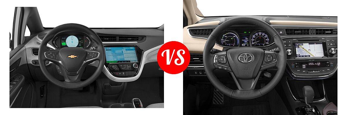 2021 Chevrolet Bolt EV Hatchback Electric LT vs. 2018 Toyota Avalon Hybrid Sedan Hybrid XLE Plus / Hybrid XLE Premium - Dashboard Comparison