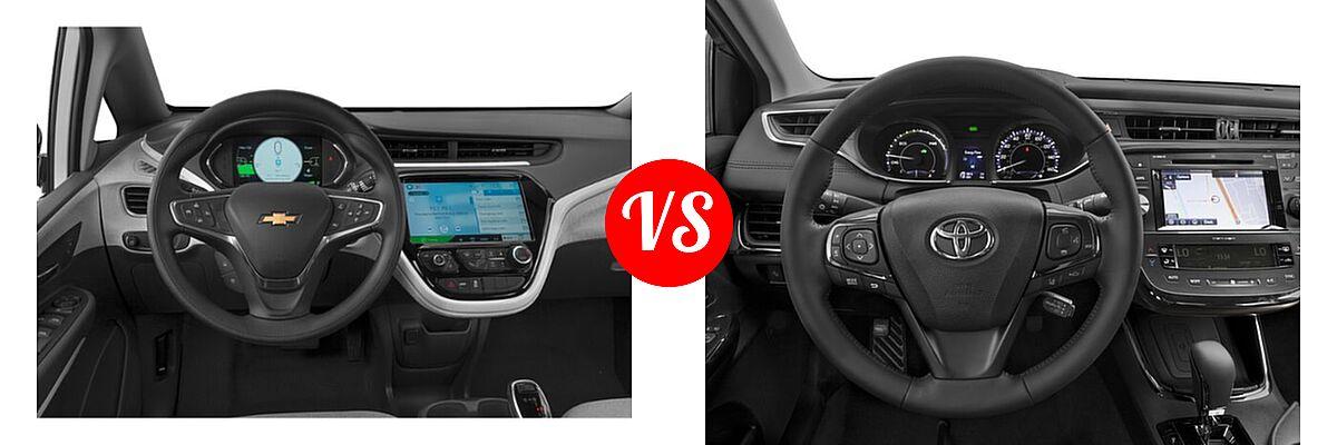 2021 Chevrolet Bolt EV Hatchback Electric LT vs. 2018 Toyota Avalon Hybrid Sedan Hybrid Limited - Dashboard Comparison