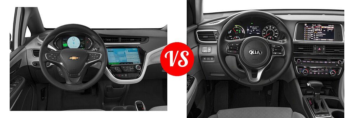 2021 Chevrolet Bolt EV Hatchback Electric LT vs. 2018 Kia Optima Plug-In Hybrid Sedan EX - Dashboard Comparison