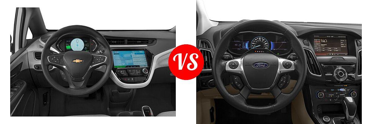 2021 Chevrolet Bolt EV Hatchback Electric LT vs. 2018 Ford Focus Hatchback Electric Electric - Dashboard Comparison