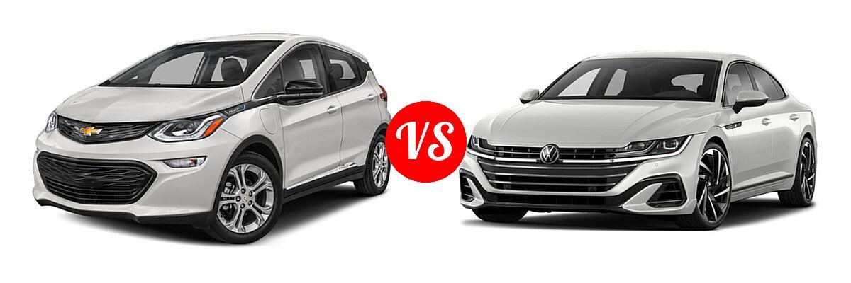 2021 Chevrolet Bolt EV Hatchback Electric LT vs. 2021 Volkswagen Arteon Hatchback SEL Premium R-Line / SEL R-Line - Front Left Comparison