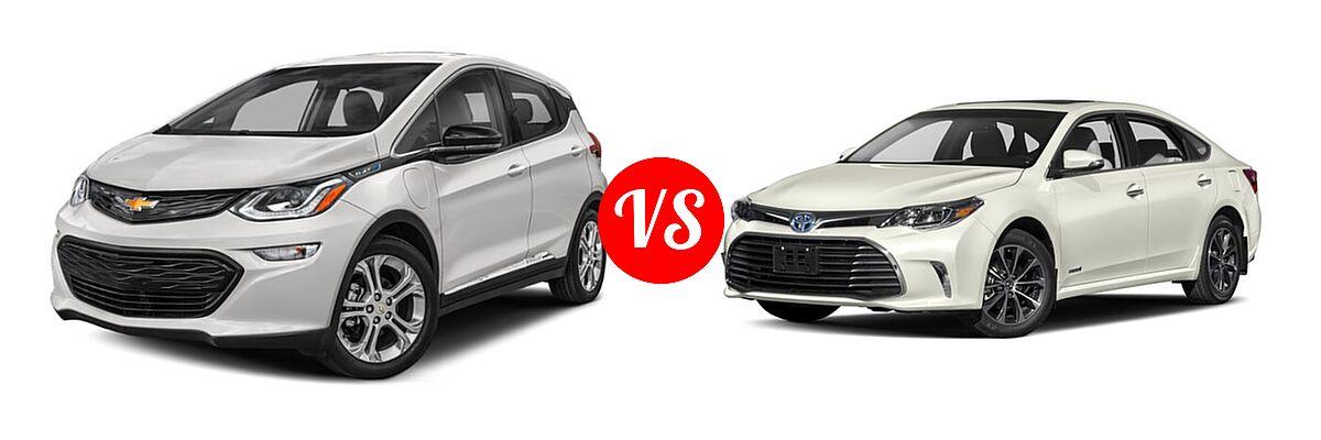 2021 Chevrolet Bolt EV Hatchback Electric LT vs. 2018 Toyota Avalon Hybrid Sedan Hybrid XLE Plus / Hybrid XLE Premium - Front Left Comparison