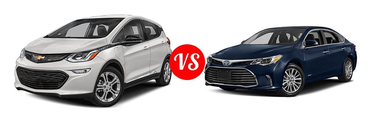 2021 Chevrolet Bolt EV Hatchback Electric LT vs. 2018 Toyota Avalon Hybrid Sedan Hybrid Limited - Front Left Comparison