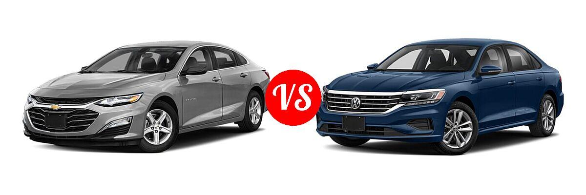 2021 Chevrolet Malibu Sedan LS vs. 2021 Volkswagen Passat Sedan 2.0T R-Line - Front Left Comparison