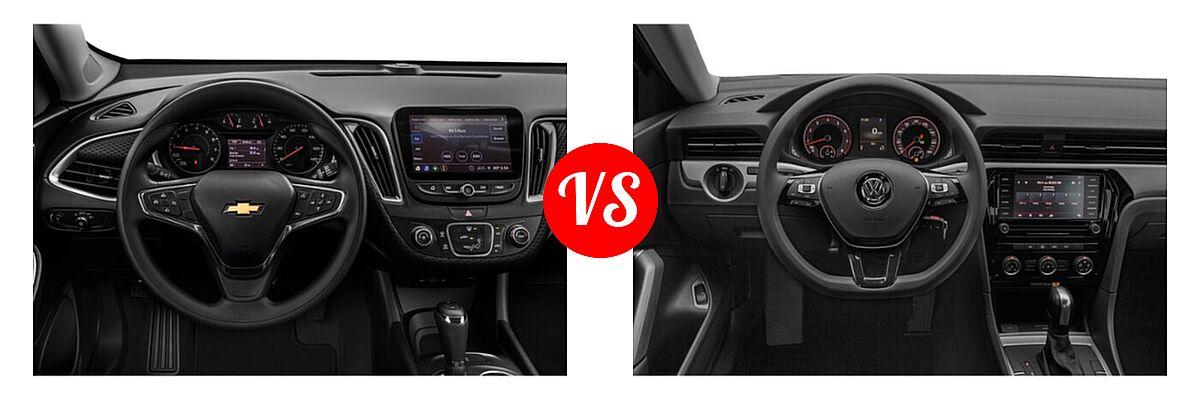 2021 Chevrolet Malibu Sedan LS vs. 2021 Volkswagen Passat Sedan 2.0T S / 2.0T SE - Dashboard Comparison
