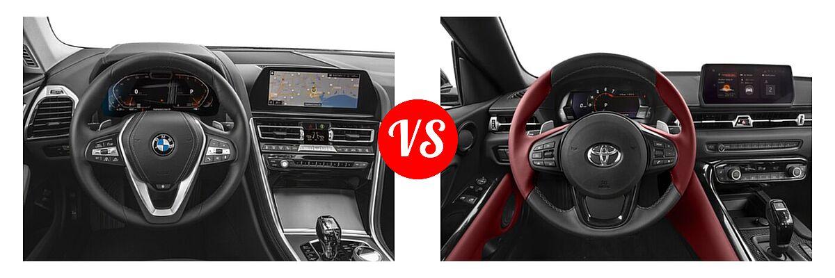 2021 BMW 8 Series Coupe 840i vs. 2021 Toyota GR Supra Coupe 2.0 / 3.0 / 3.0 Premium / A91 Edition - Dashboard Comparison